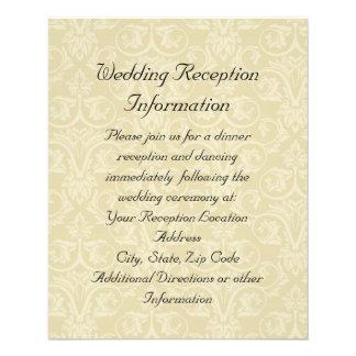 Anéis dourados com cruz, amor cristão elegante panfleto personalizados