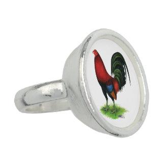 Anéis Gamecock:  Escuro - vermelho