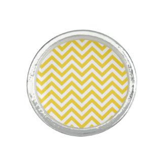 Anéis O ziguezague amarelo e branco listra o teste