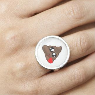 Anéis Tombadilho Emoji do coração