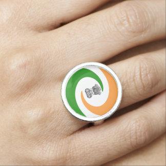 Anel Bandeira espiral indiana