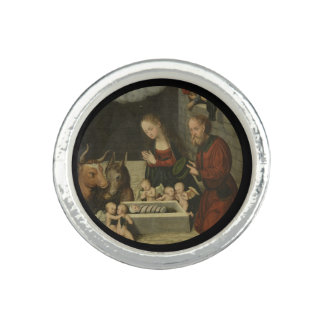 Anel Bebê adorador Jesus dos pastores por Cranach