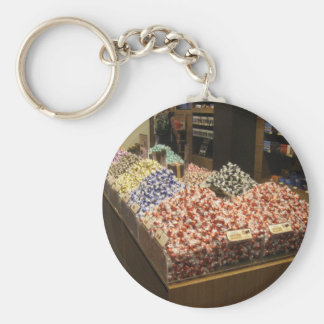 Anel chave redondo com imagem dos chocolates de chaveiro
