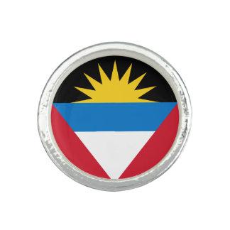 Anel Com Foto Bandeira patriótica de Antígua e de Barbuda