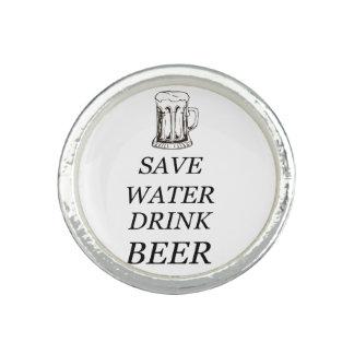 Anel Com Foto Comida da bebida da cerveja