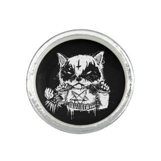 Anel Com Foto Metal do gato