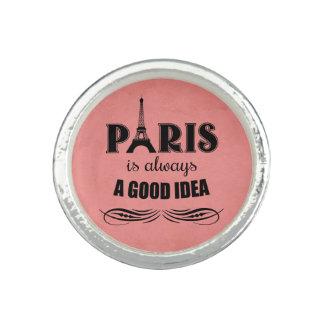 Anel Com Foto Paris é sempre uma boa ideia