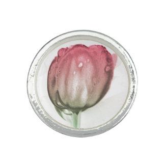 Anel Com Foto Tulipa vermelha