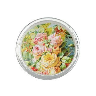 Anel Com Imagem Perfume da água de Florida com rosas da couve