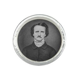 Anel Com Imagem Retrato da foto de Edgar Allan Poe - de Brady