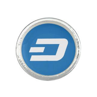 Anel cripto de Cryptocurrency do símbolo do