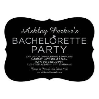 Anel da platina do convite | da festa de solteira