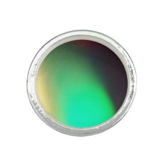 Anel de creme verde do design do abstrato do preto