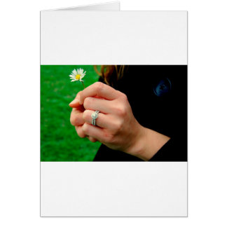 Anel de noivado com margarida cartão comemorativo