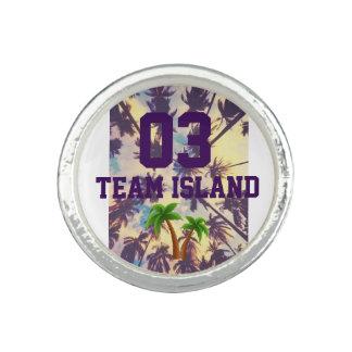 Anel do círculo da ilha da equipe