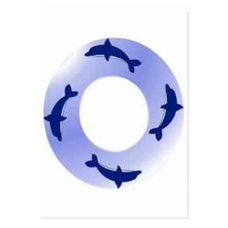 Anel do golfinho cartão de visita grande