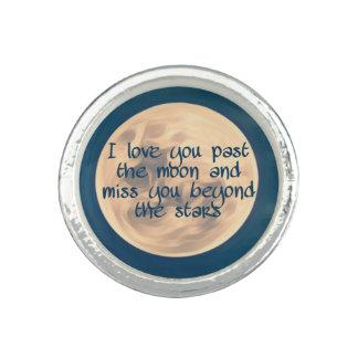 Anel Eu te amo após a lua…