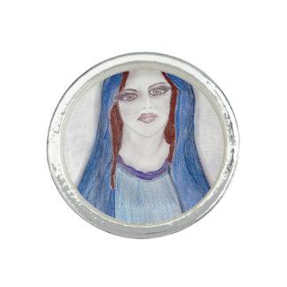 Anel Mary no azul