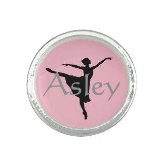 Anel personalizado da bailarina, anel da dança
