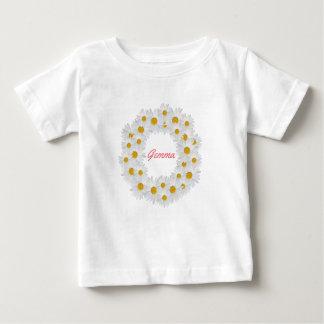 Anel personalizado delicioso da margarida camiseta para bebê