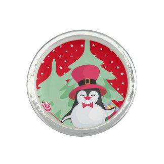 Anel Um pinguim festivo - 1