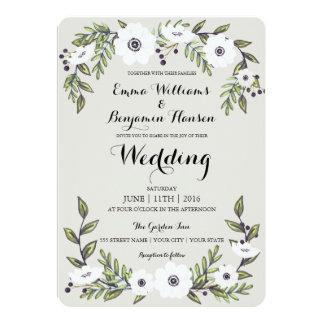 Anêmonas pintadas - convite floral do casamento