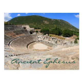 Anfiteatro no dia moderno antigo Turquia de Cartão Postal