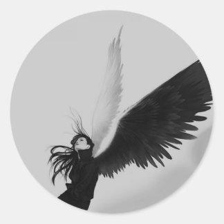 Angel Adesivo Em Formato Redondo