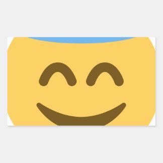 Angel Emoji Adesivo Retangular