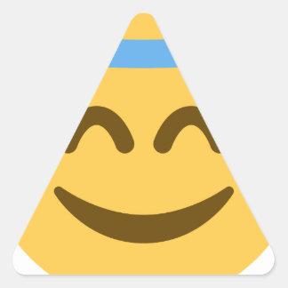 Angel Emoji Adesivo Triangular