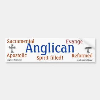 Anglicano tradicional adesivo para carro