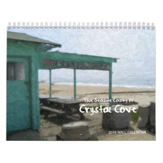 Angra de cristal, costa de Newport, calendário da