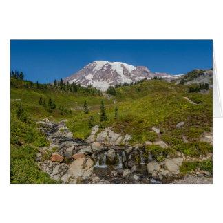 Angra de Edith e cartão do Monte Rainier