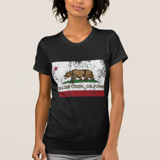 angra do pedregulho da bandeira de Califórnia afli Tshirts