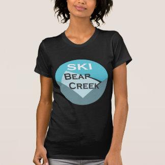 Angra do urso do esqui camiseta