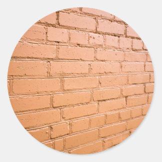 Ângulo de vista na parede de tijolo adesivo