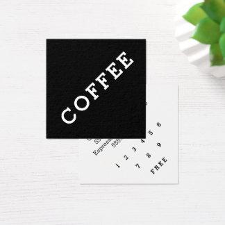 Ângulo escuro do cartão de perfuração do café da