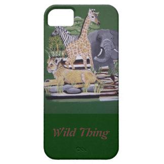 Animais africanos da coisa selvagem que pintam por capa barely there para iPhone 5