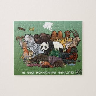 Animais asiáticos - quebra-cabeça de serra de