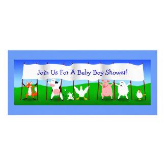 Animais bonitos dos desenhos animados com o chá do convites