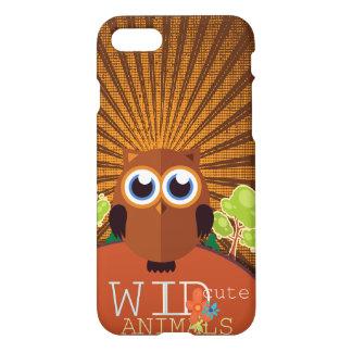 Animais bonitos selvagens - coruja capa iPhone 7