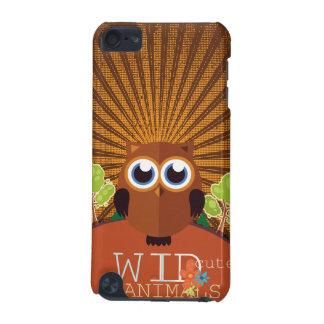 Animais bonitos selvagens - coruja capa para iPod touch 5G