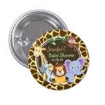 Animais da selva no impressão animal do girafa de boton