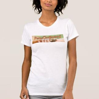 Animais de estimação a bordo do t-shirt do ™ logo
