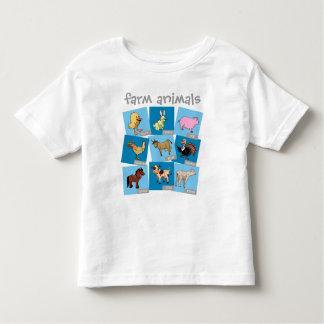 Animais de fazenda camiseta infantil