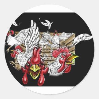 Animais de fazenda da capoeira das galinhas da cas adesivo