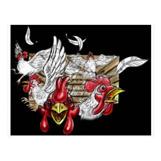 Animais de fazenda da capoeira das galinhas da cas cartao postal