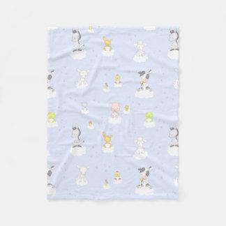 Animais de fazenda do bebê cobertor de lã