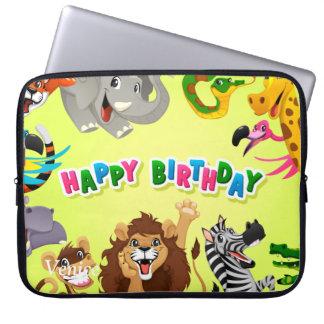 Animais do jardim zoológico do feliz aniversario capas para computadores
