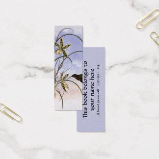 Animais do vintage, flores da orquídea do pássaro cartão de visitas mini